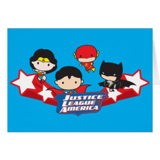 Chibi Justice League of America Stars Card