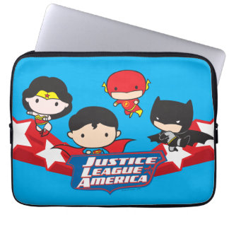 Chibi Justice League of America Stars Computer Sleeves