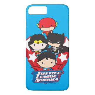 Chibi Justice League of America Stars iPhone 8 Plus/7 Plus Case
