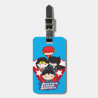 Chibi Justice League of America Stars Luggage Tag