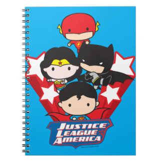 Chibi Justice League of America Stars Notebook