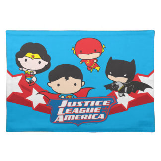 Chibi Justice League of America Stars Placemat