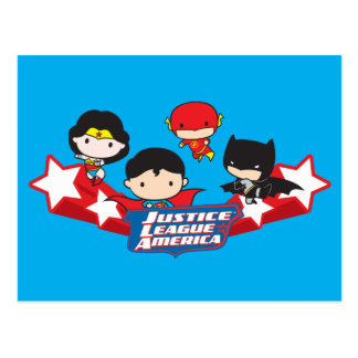 Chibi Justice League of America Stars Postcard