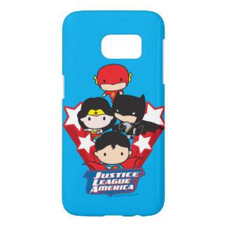 Chibi Justice League of America Stars Samsung Galaxy S7 Case