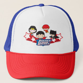 Chibi Justice League of America Stars Trucker Hat