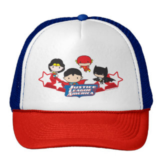 Chibi Justice League of America Stars Trucker Hat