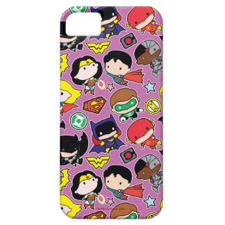 Chibi Justice League Pattern on Purple iPhone 5 Case