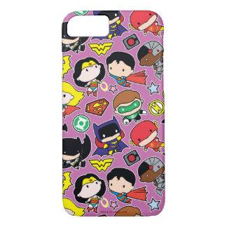 Chibi Justice League Pattern on Purple iPhone 8/7 Case