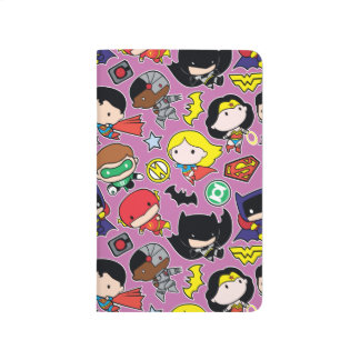 Chibi Justice League Pattern on Purple Journal