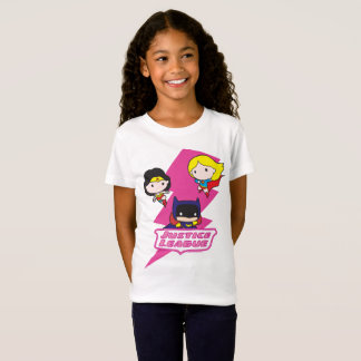 Chibi Justice League Pink Lightning T-Shirt