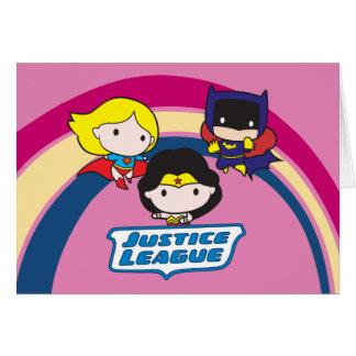 Chibi Justice League Rainbow Card