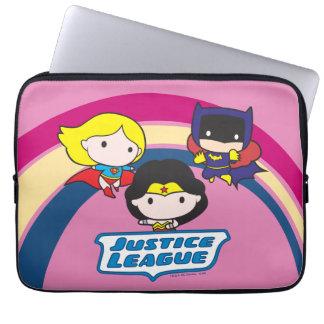Chibi Justice League Rainbow Laptop Sleeve