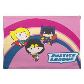 Chibi Justice League Rainbow Placemat