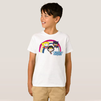 Chibi Justice League Rainbow T-Shirt