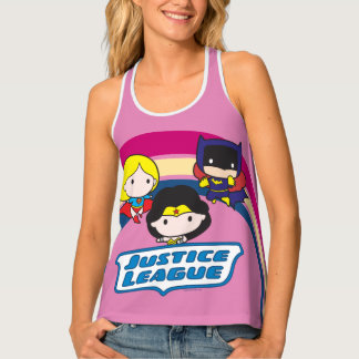 Chibi Justice League Rainbow Tank Top