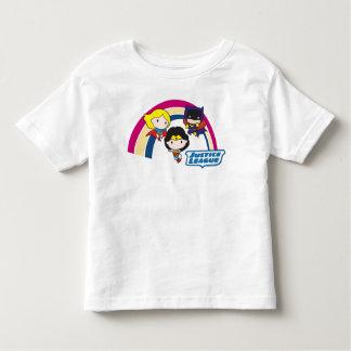 Chibi Justice League Rainbow Toddler T-shirt