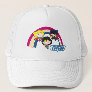 Chibi Justice League Rainbow Trucker Hat