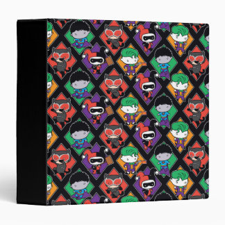 Chibi Justice League Villain Pattern 3 Ring Binder