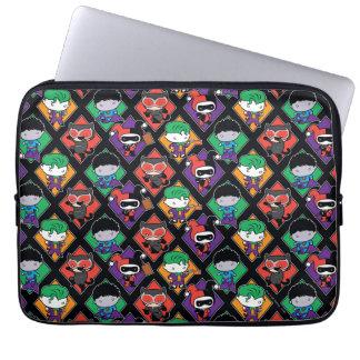 Chibi Justice League Villain Pattern Laptop Sleeve