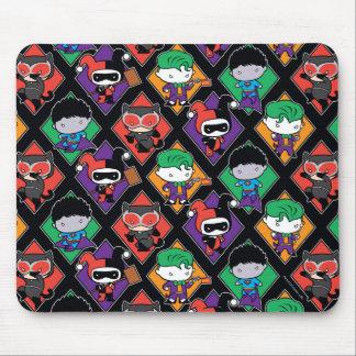 Chibi Justice League Villain Pattern Mouse Pad