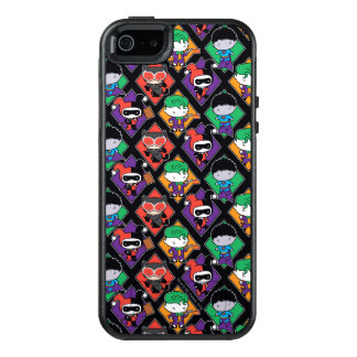 Chibi Justice League Villain Pattern OtterBox iPhone 5/5s/SE Case