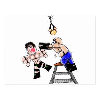 Chibi Ladder Match Postcard