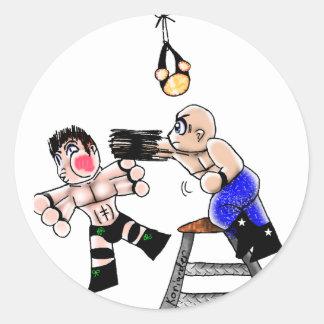 Chibi Ladder Match Round Sticker