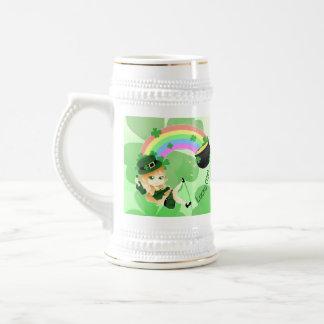 Chibi leprechaun girl beer stein