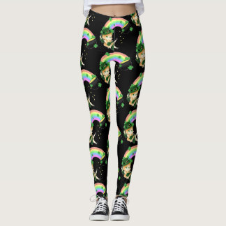 Chibi leprechaun girl leggings