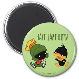 Chibi MARVIN THE MARTIAN™ & DAFFY DUCK™ Magnet