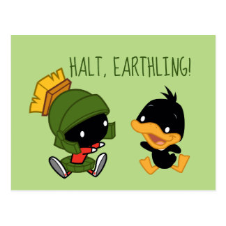 Chibi MARVIN THE MARTIAN™ & DAFFY DUCK™ Postcard