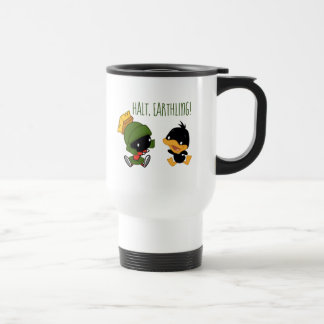 Chibi MARVIN THE MARTIAN™ & DAFFY DUCK™ Travel Mug