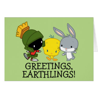 Chibi MARVIN THE MARTIAN™, TWEETY™, & BUGS BUNNY™ Card