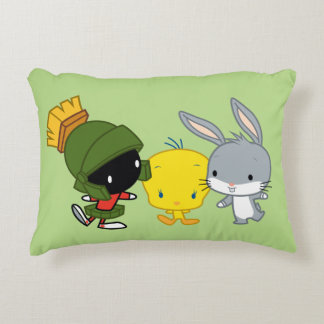 Chibi MARVIN THE MARTIAN™, TWEETY™, & BUGS BUNNY™ Decorative Pillow