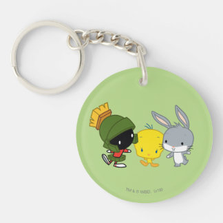 Chibi MARVIN THE MARTIAN™, TWEETY™, & BUGS BUNNY™ Keychain