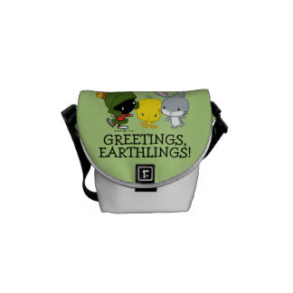 Chibi MARVIN THE MARTIAN™, TWEETY™, & BUGS BUNNY™ Messenger Bag