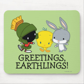 Chibi MARVIN THE MARTIAN™, TWEETY™, & BUGS BUNNY™ Mouse Pad