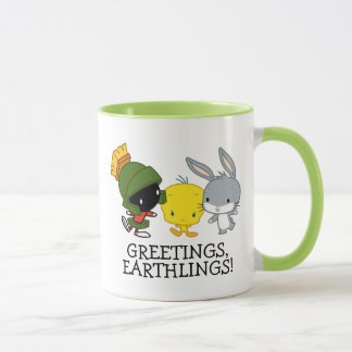 Chibi MARVIN THE MARTIAN™, TWEETY™, & BUGS BUNNY™ Mug