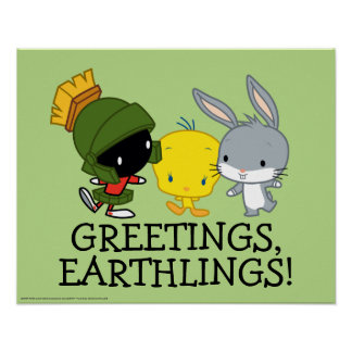 Chibi MARVIN THE MARTIAN™, TWEETY™, & BUGS BUNNY™ Poster