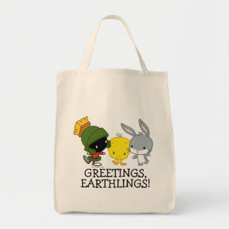 Chibi MARVIN THE MARTIAN™, TWEETY™, & BUGS BUNNY™ Tote Bag