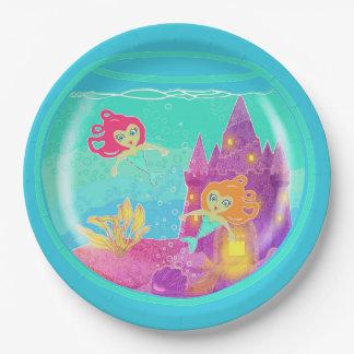 Chibi Mermaids paper plate