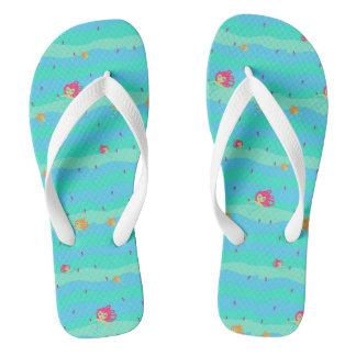 Chibi Mermaids & Seahorses flip-flops Flip Flops