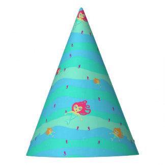 Chibi Mermaids & Seahorses paper hat