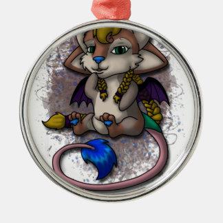 Chibi Mira - WDi Mascot Silver-Colored Round Ornament