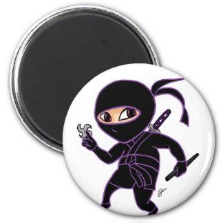 Chibi Ninja 2 Inch Round Magnet