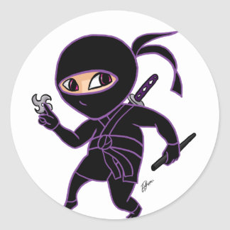 Chibi Ninja Classic Round Sticker