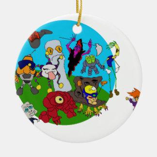 Chibi Ninja Story Round Ceramic Ornament