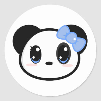 Chibi Panda Girl Sticker