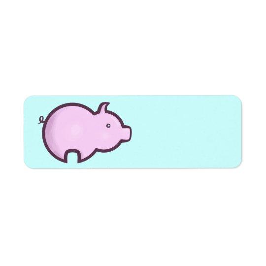 Chibi Pig Return Address Label