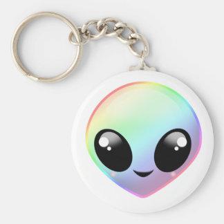 Chibi Rainbow Alien Keychain